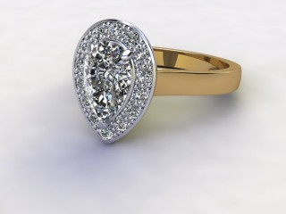 Certificated Pear Shape Diamond in 18ct. Gold
