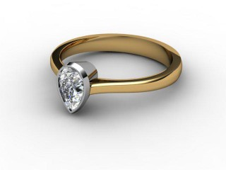 Certificated Pear Shape Diamond in 18ct. Gold-08-2808-0012