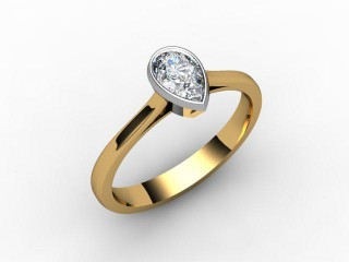 Certificated Pear Shape Diamond in 18ct. Gold - 15