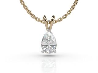 Certified Pearshape Diamond Pendant-08-28911