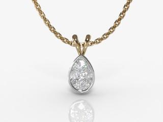 Certified Pearshape Diamond Pendant-08-28912