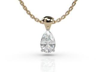 Certified Pearshape Diamond Pendant-08-28913
