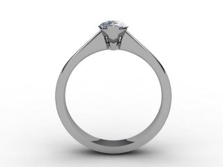 Certificated Pear Shape Diamond Solitaire Engagement Ring in Palladium - 6