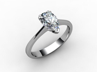 Certificated Pear Shape Diamond Solitaire Engagement Ring in Palladium - 15