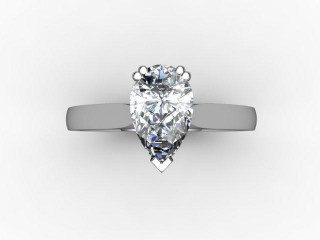 Certificated Pear Shape Diamond Solitaire Engagement Ring in Palladium - 9