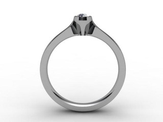 Certificated Pear Shape Diamond Solitaire Engagement Ring in Palladium - 3