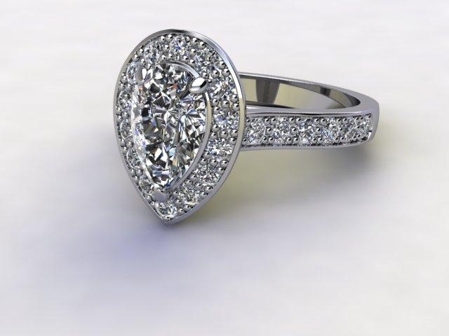 Certificated Pear Shape Diamond in Palladium