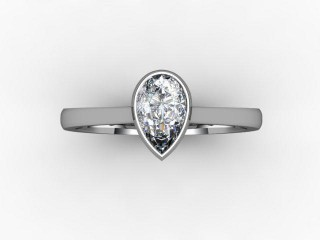 Certificated Pear Shape Diamond in Palladium - 9