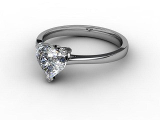 Certificated Heart Shape Diamond Solitaire Engagement Ring in Platinum-09-0100-0001
