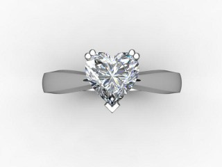 Certificated Heart Shape Diamond Solitaire Engagement Ring in Platinum - 9