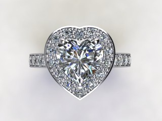Certificated Heart Shape Diamond in Platinum - 9