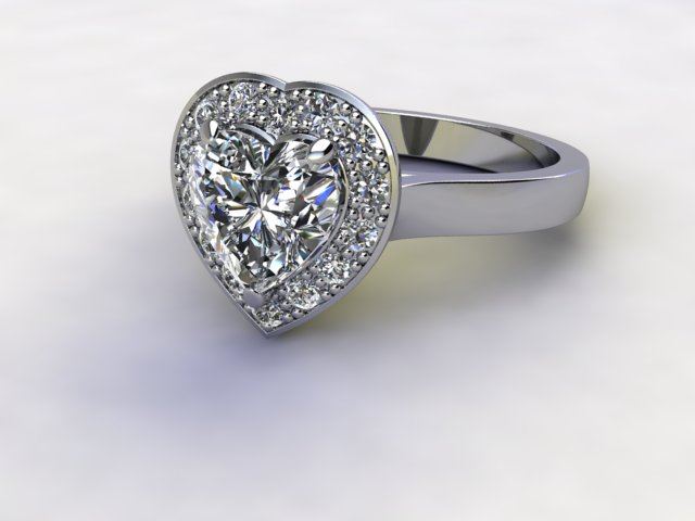 Certificated Heart Shape Diamond in Platinum