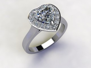 Certificated Heart Shape Diamond in Platinum - 12