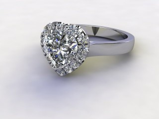 Certificated Heart Shape Diamond in Platinum-09-0100-8950