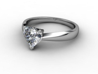 Certificated Heart Shape Diamond Solitaire Engagement Ring in Platinum-09-0102-0009