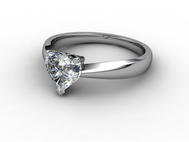 Certificated Heart Shape Diamond Solitaire Engagement Ring in Platinum