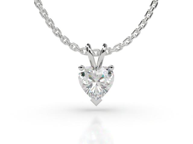 Certified Heart Shape Diamond Pendant