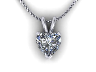 Certified Heart Shape Diamond Pendant  - 9