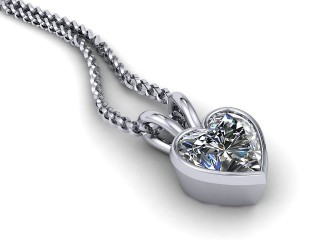 0.50cts. Heart Shaped Diamond Pendant - Choice of Lab-Grown or Traditionally Mined Diamond-09-01912A