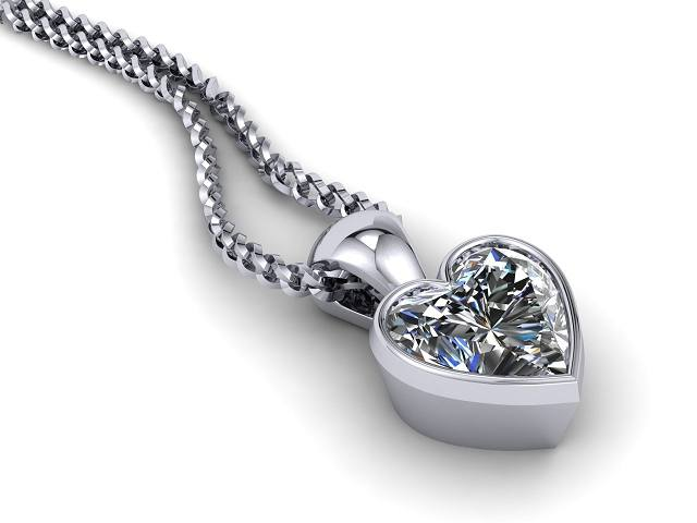 Certified Heart Shape Diamond Pendant