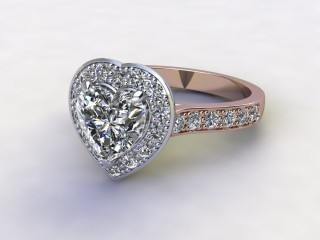Certificated Heart Shape Diamond in 18ct. Rose Gold-09-0400-8948