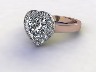 Certificated Heart Shape Diamond in 18ct. Rose Gold - Main