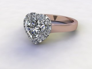 Certificated Heart Shape Diamond in 18ct. Rose Gold-09-0400-8950