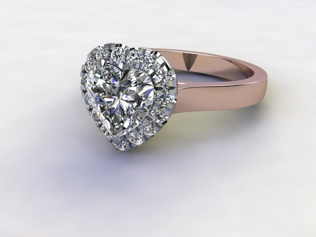 Certificated Heart Shape Diamond in 18ct. Rose Gold