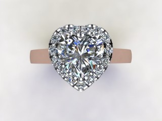 Certificated Heart Shape Diamond in 18ct. Rose Gold - 9