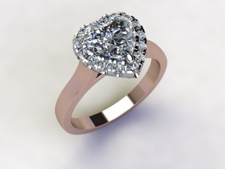 Certificated Heart Shape Diamond in 18ct. Rose Gold - 12