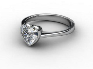 Certificated Heart Shape Diamond Solitaire Engagement Ring in 18ct. White Gold-09-0500-0003