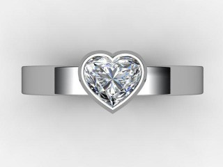 Certificated Heart Shape Diamond Solitaire Engagement Ring in 18ct. White Gold - 9