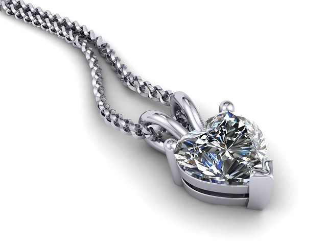Certified Heart Shape Diamond Pendant - Main Picture