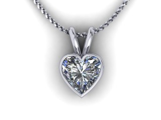Certified Heart Shape Diamond Pendant - 9