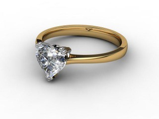 Certificated Heart Shape Diamond Solitaire Engagement Ring in 18ct. Gold-09-2800-0001