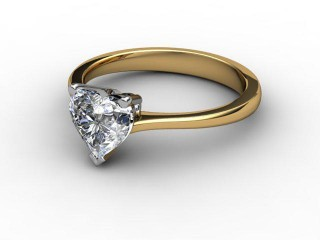 Certificated Heart Shape Diamond Solitaire Engagement Ring in 18ct. Gold-09-2800-0007