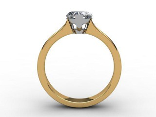 Certificated Heart Shape Diamond Solitaire Engagement Ring in 18ct. Gold - 3