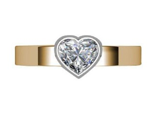 Certificated Heart Shape Diamond Solitaire Engagement Ring in 18ct. Gold - 6