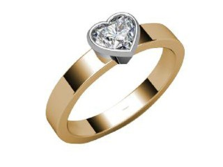 Certificated Heart Shape Diamond Solitaire Engagement Ring in 18ct. Gold - 9