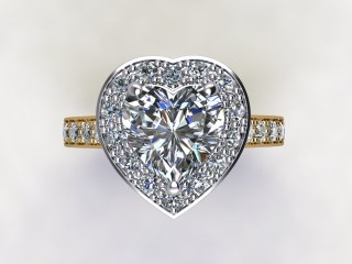 Certificated Heart Shape Diamond in 18ct. Gold - 9