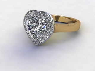 Certificated Heart Shape Diamond in 18ct. Gold-09-2800-8949