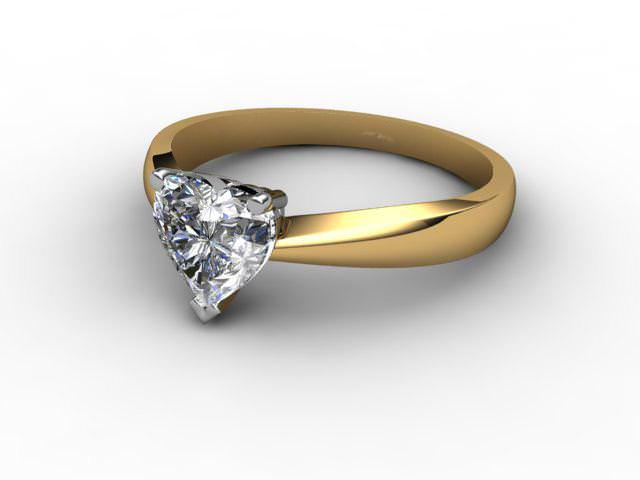 Certificated Heart Shape Diamond Solitaire Engagement Ring in 18ct. Gold