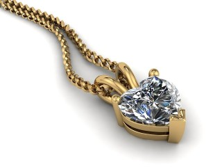Certified Heart Shape Diamond Pendant-09-28911