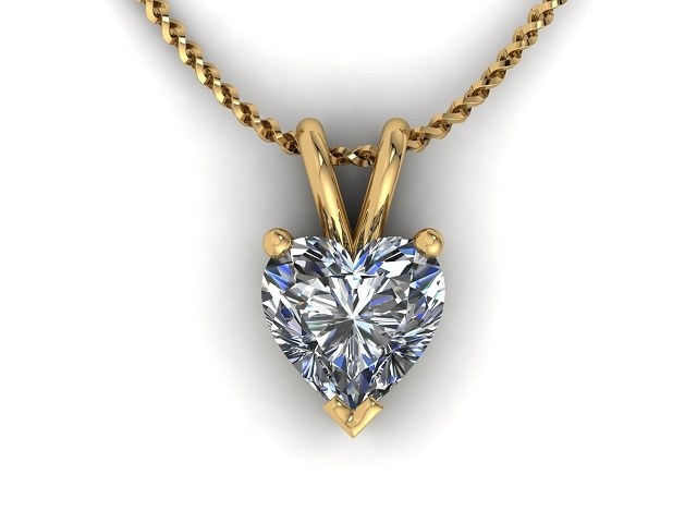 Heart shape diamond pendant chain certified diamond certified heart shape diamond pendant 9 aloadofball Gallery