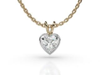 Certified Heart Shape Diamond Pendant-09-28912