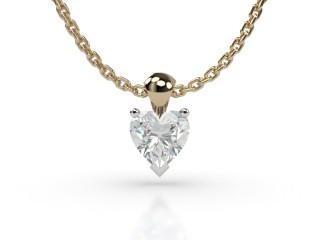 Certified Heart Shape Diamond Pendant-09-28913