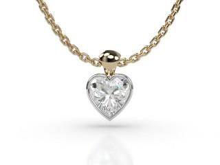 Certified Heart Shape Diamond Pendant-09-28914