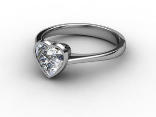Certificated Heart Shape Diamond Solitaire Engagement Ring in Palladium-09-6600-0003