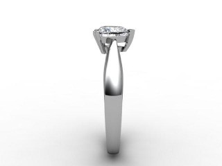 Certificated Heart Shape Diamond Solitaire Engagement Ring in Palladium - 6