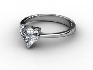 Certificated Heart Shape Diamond Solitaire Engagement Ring in Palladium-09-6600-0007